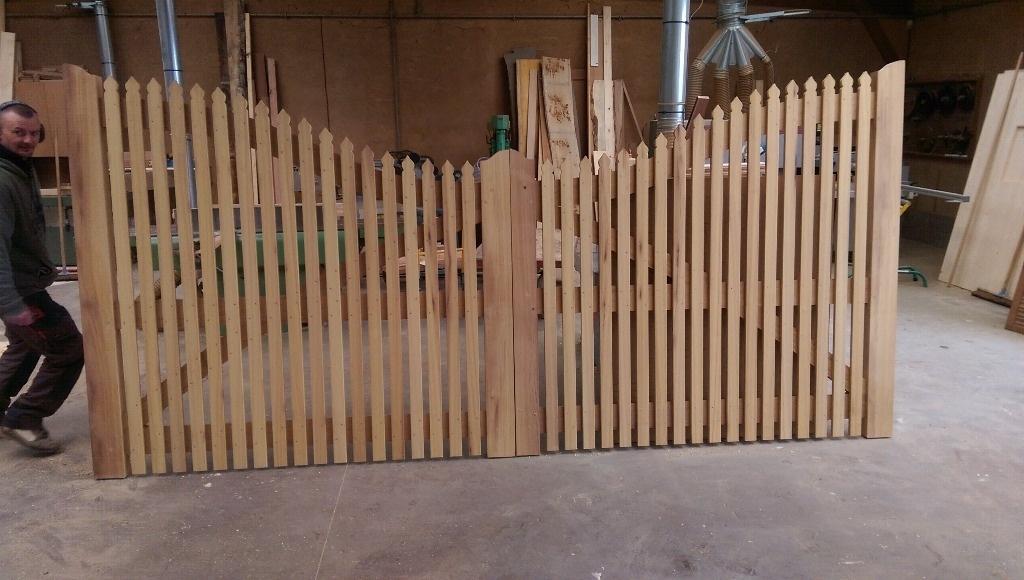 fabrication d un portail en bois