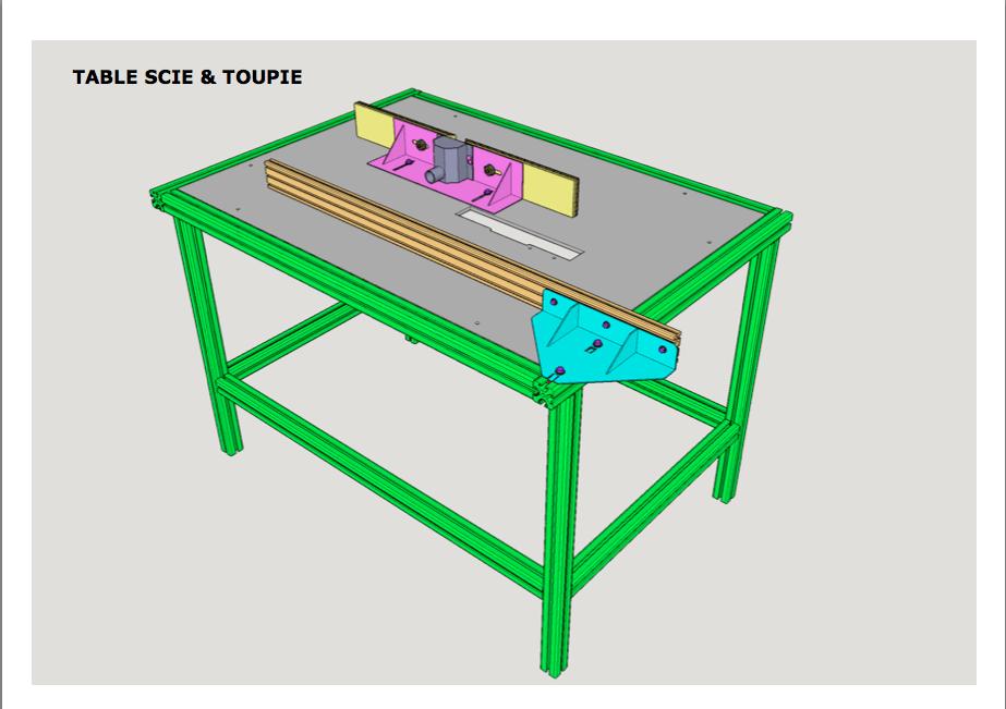 fabrication d une table pour défonceuse