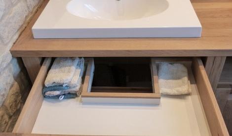 meuble salle de bain fait maison