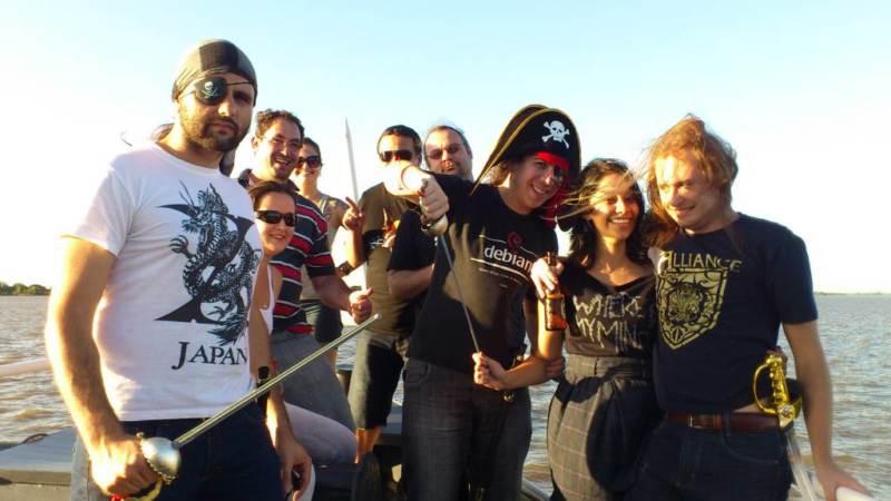 Passeio de barco (Piratas a bordo)