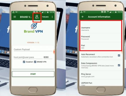 configuracion brand vpn android gratis 2018