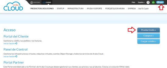 crear y configurar vps aruba cloud android