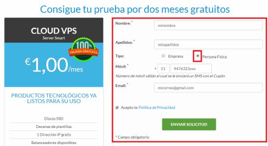 crear y configurar vps dos meses gratis