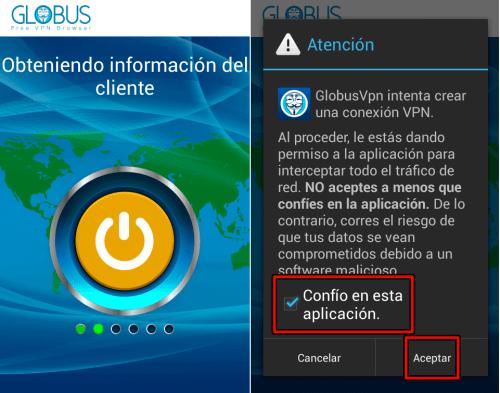 descargar globus vpn para android