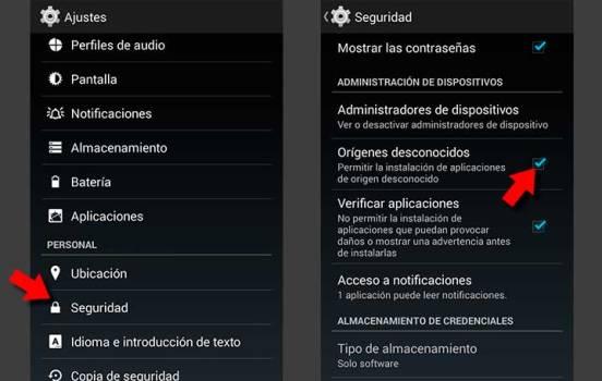 permitir origenes desconocidos descargar vpn connection 0.96 full android