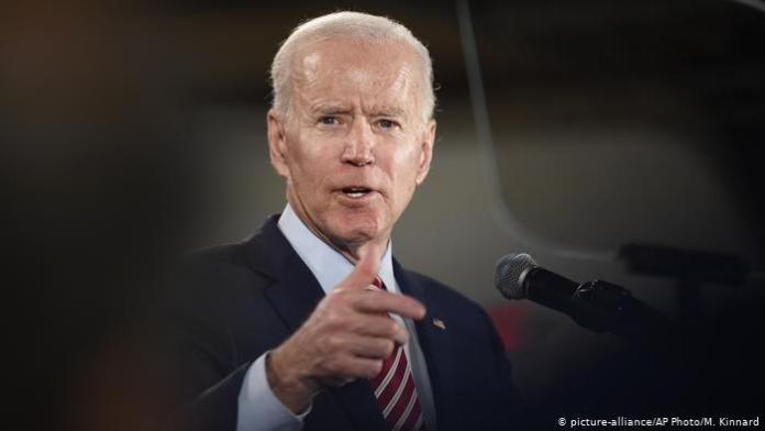 Vorwahlen in den USA - New Hampshire Joe Biden (picture-alliance/AP Photo/M. Kinnard)