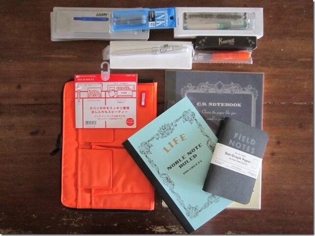 Achats de carnets, pochettes et de stylos-plumes chez JetPens