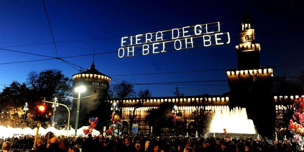 Feira de Natal em Milão