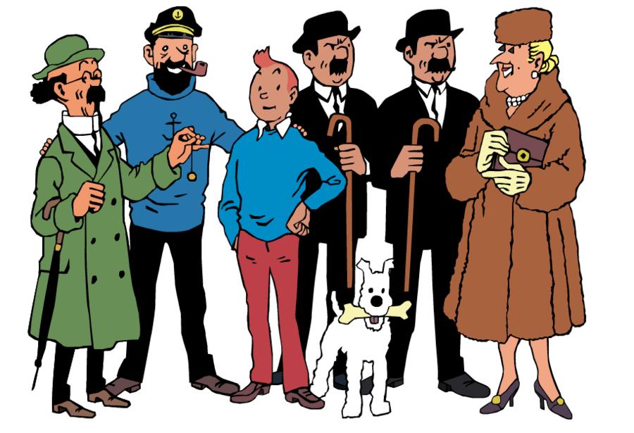 Resultado de imagen de los personajes de tintin