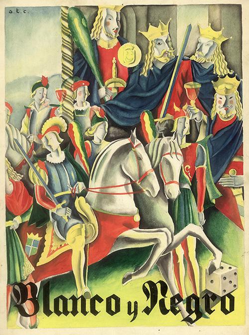 Blanco y Negro, portada núm. 2.059, por a.t.c. (Ángeles Torner Cervera), acuarela y tinta sobre papel, Colección ABC.