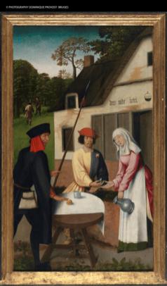 Los soldados del Rey buscan a la Santa, por Goswyn van der Weyden.