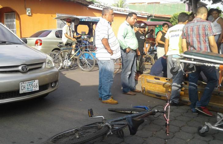 ciclista accidente