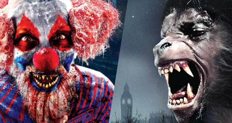 universal studios halloween horror nights american werewolf in london clowns 3d