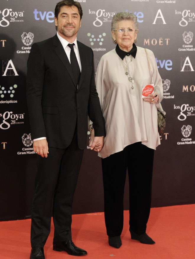 Javier Bardem y su orgullosa madre Pilar Bardem: una familia de cine