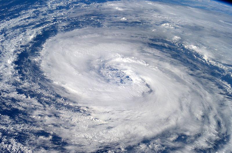 Imagen satelital del ojo de un huracán