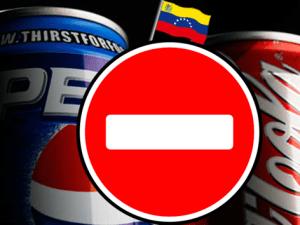 Foto montaje contra el consumo de pepsi y coca cola en Venezuela