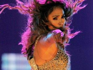Jennifer López en el escenario