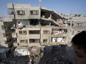 Gaza: Edificio de viviendas