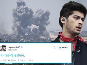 Composición Zayn Malik y su twit pidiendo libertad para Palestina