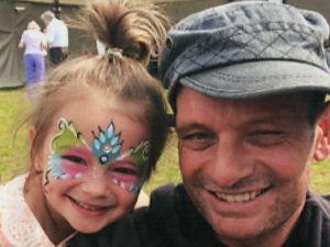 David Myles y su hija Ruby