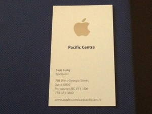 Tarjeta de empleado de Apple
