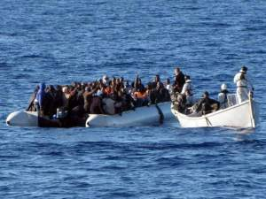 Inmigrantes en costas Libias