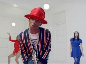 "Pharrell Williams en video ""Happy"""