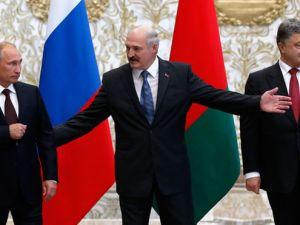 Vladimir Putin y Poroshenko