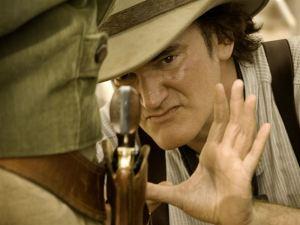 Quentin Tarantino en pleno rodaje