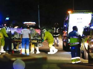 Momento de traslado a Hospital de Madrid casos ébola