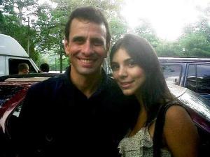 Los twitteros publicaron esta foto del gobernador Capriles,