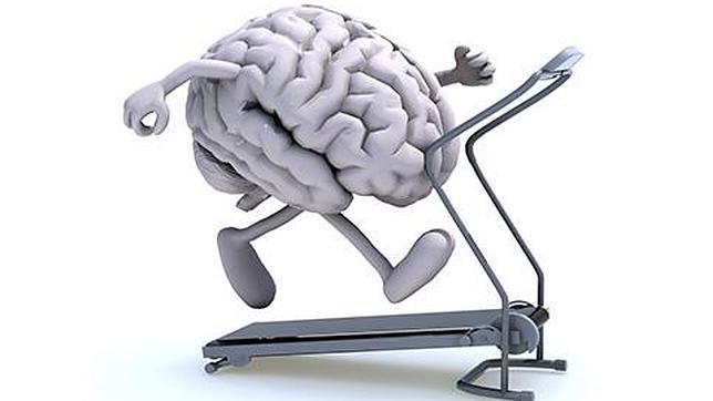 Arte cerebro ejerctitándose en caminadora