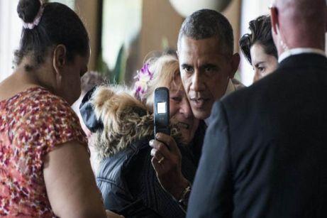 l presidente de Estados Unidos Barack Obama en el restaurante Gregg's