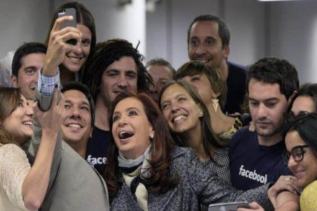 La presidenta argentina Cristina Fernández de Kirchner en Facebook Argentina