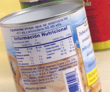 informacion nutricionañ