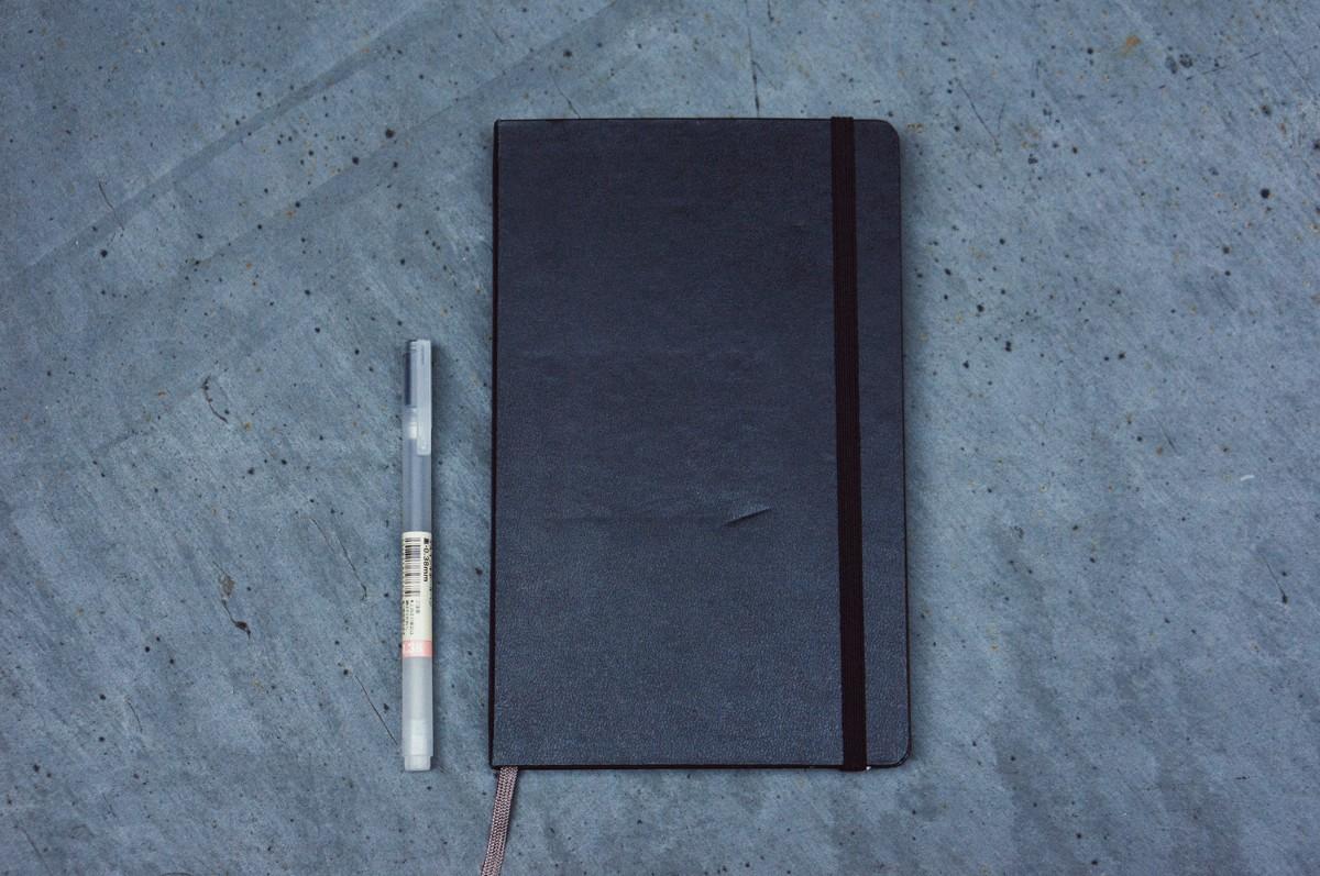 4 Bolígrafo 038mm de Muji y Cuaderno cuadriculado de Moleskine