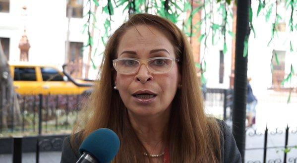 La fundadora y trabajadora de ANTV,Betzaida Amaro