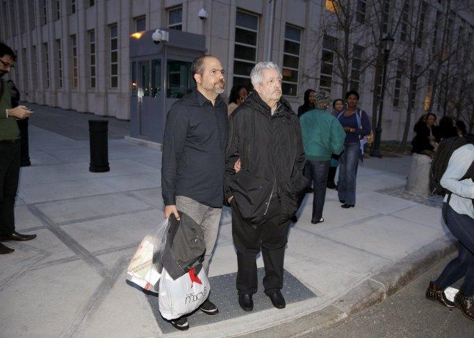 Venezuelan Football Federation president Rafael Esquivel exits the Brooklyn Federal Courthouse in the Brooklyn borough of New York
