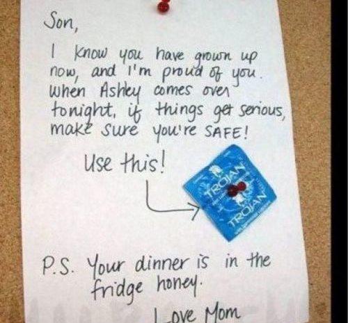 La nota que dejo la madre al joven