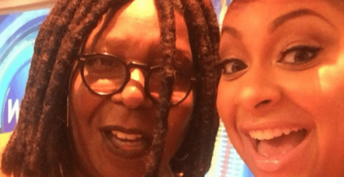 Raven Simone y Whoppi Goldberg