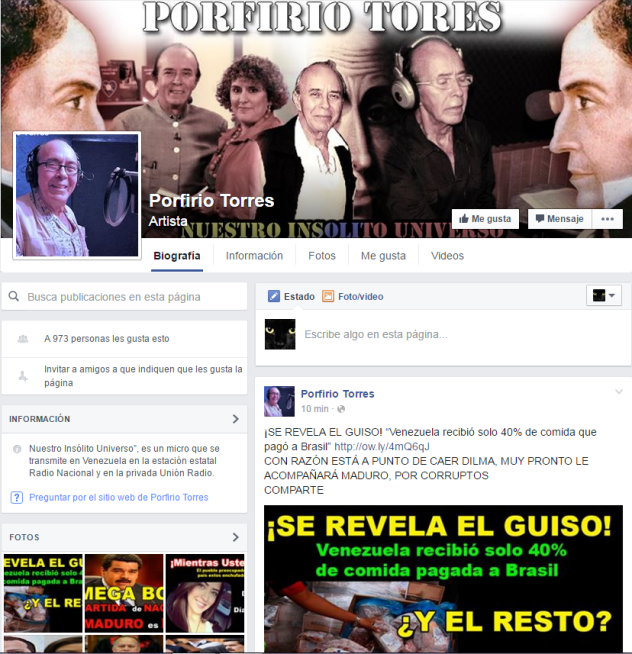 Captura Porfirio torres facebook falso