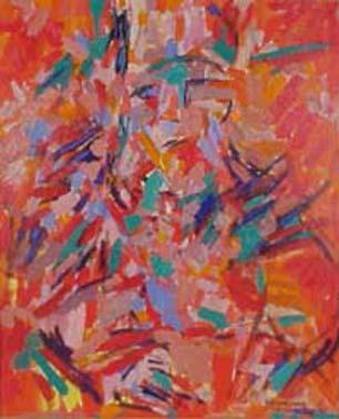 El geómetra florentino. 1970. Óleo sobre tela.