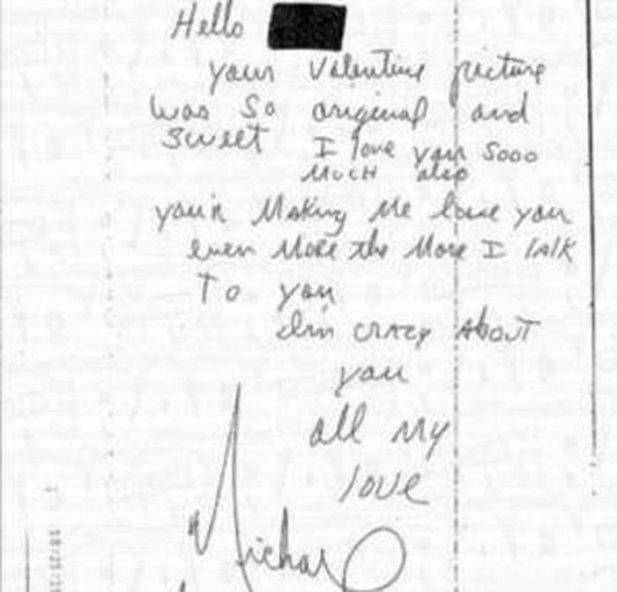 cartas de amor enviadas por Michael Jackson a una niña