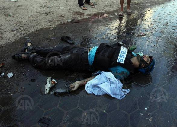 12 journalistes palestiniens tués par Israël en quatre semaines