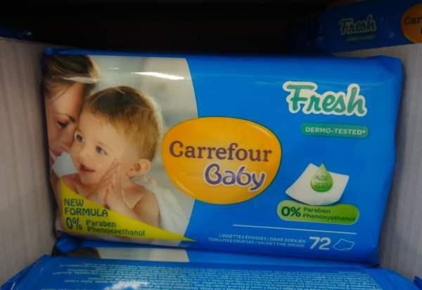 Lingettes pour bébé made in Israël chez Carrefour d'Evry 6