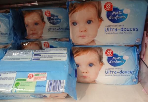 Lingettes pour bébé made in Israël chez Leclerc de Viry-Châtillon 2