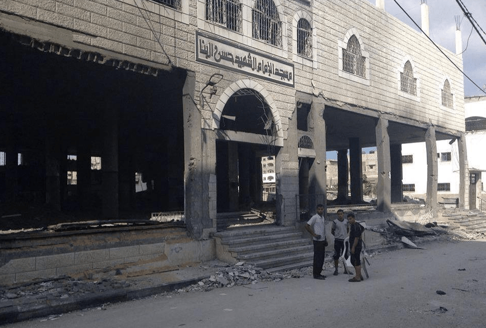 Masjid Hassan Al-Banna Gaza quartier Zeitoun