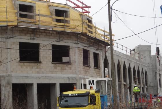 Le chantier de la mosquée de Grigny
