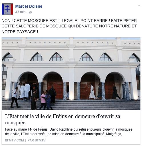 Faites péter cette saloperie de mosquée