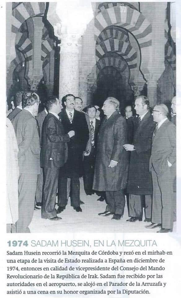 Saddam Hussein à la grande mosquée de Cordoue